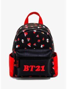 BT21 Character Hearts Mini Backpack