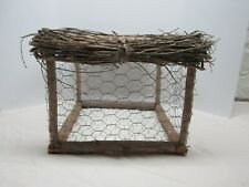 Rustic Square Chicken Wire  Basket Planter