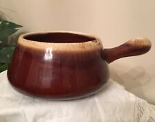 MCCOY 7054 Ceramic Brown Drip W/Handle French Onion Soup Chili Bowl, USA