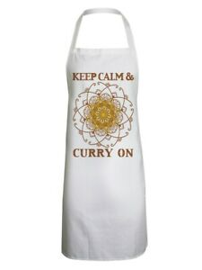 Apron Keep Calm and Curry On White