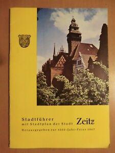 DDR Stadtführer u. Stadtplan Stadt Zeitz 1000 Jahr Feier 1967 Geschichte Bilder