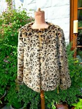 JOANNE HOPE LEOPARD SKIN EFFECT JACKET SIZE 12 BNWT NEW WITH TAGS