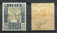LIBIA 1921 SIBILLA LIBICA LIRE 10 FILIGRANA CORONA MLH* SASSONE 32