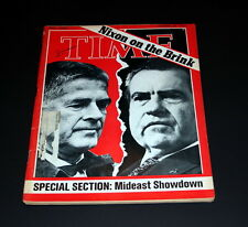 TIME MAGAZINE OCTOBER 29 TH 1973 NIXON ON THE BRINK