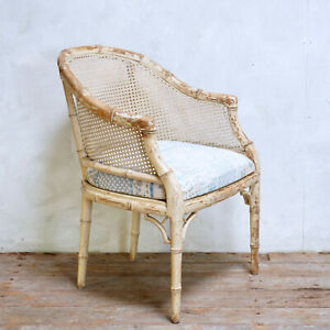 Vintage Faux Bamboo Chippindale Style Tub Chair