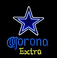 "Dallas Cowboys Corona Extra Neon Light Sign 32""x24"" Beer Cave Gift Lamp Artwork"