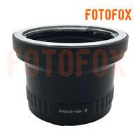 FOTOFOX adapter for Pentax 645 P645 mount lens to Nikon Z mount Z6 Z7 camera