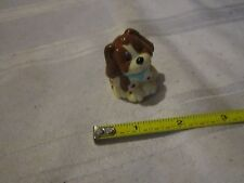 Fisher Price Loving Family Dog Brown Tan Puppy Figure cute teal collar spots