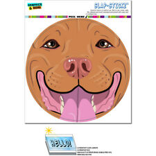 Pit Bull Face Red Nose Pitbull - Close up Pet Dog - SLAP-STICKZ™ Bumper Sticker