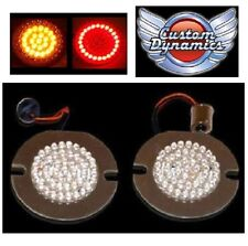 "3"" Flat Style Dual Color LED Turn Signals for Harley Davidson GEN-200-AR2-1156-T"