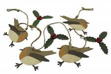 Shoeless Joe Christmas Robin and Holly Garland - Rustic style - Christmas Decor