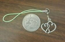 New Double Heart Silhouette Cell Phone Charm Strap -
