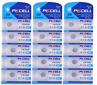 15 x CR1025  3V Lithium Knopfzelle 30 mAh (3 Blistercard a 5 Batterien ) PKCELL