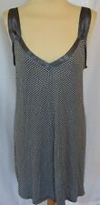 Blue And White Stretchy Nightie With Spot Detail Satin Ribbon UK 16/18 Christmas