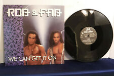 """Rob & Fab, We Can Get It On, JE 63191-1, 1992, 12"""" Maxi Single,Hip Hop/Synth Pop"""