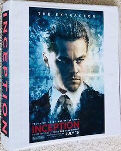 Leonardo DiCaprio Christopher Nolan Inception HUGE binder filled with ads MORE