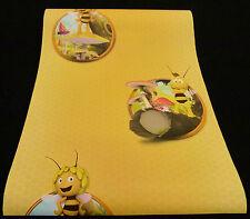 """94182-1-8) 5 Rollen hochwertige Kinderzimmer Papier Tapeten """"Die Biene Maja"""""""