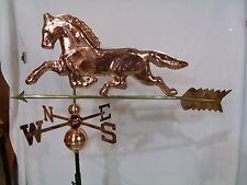 LARGE Copper HORSE Weathervane has Polished Finish with FREE ROOF MOUNT !!!