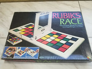 Vintage Rubiks Race Game Cube Ideal Toy Corporation 1982 Complete w Instructions