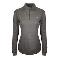 Greg Norman Women's Dark Heather Grey 1/4 Zip Mockneck L/S T-Shirt (Retail $79)