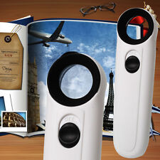 40X Handheld 2 LED Light Magnifier Reading  Magnifying Loupe Glass Jewelry Lens