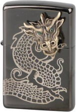 ZIPPO GOLDEN DRAGON HEAD Limited Edition xxx/1000 Ebony gelasert Drachen NEU OVP