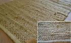 100% Natural Jute Rug Runner Handmade Flat Knotted Dhurrie Eco Friendly 270x60cm
