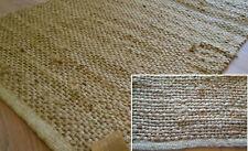 100% Natürliche Jute Teppich Läufer Handmade Flach Geknotet Dhurrie Eco Friendly