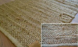 100% Natural Jute Rug Runner Handmade Flat Knotted Dhurrie Eco Friendly 180x60cm
