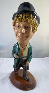 "Vintage ESCO 1973 Harpo Marx Chalkware Statue - 18"" Tall HEAVY"