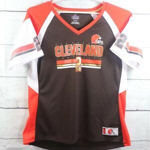 Majestic Womens Size XXL Shirt Manziel NFL Cleveland Browns Jersey Fashion Top