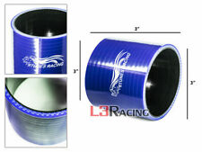 """BLUE 3"""" 76mm 3-ply Silicone Coupler Hose Adapter Turbo Intake Intercooler SB SC"""