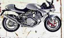 Voxan CafeRacer1000 1999 Aged Vintage Photo Print A4 Retro poster