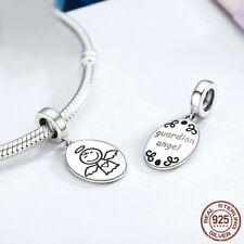 Charm Angel de plata de ley 925 para pulsera europea de marca