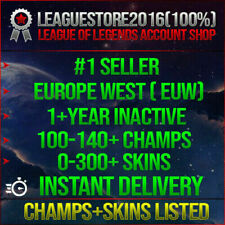 League of Legends Account LOL EUW Unranked Lvl 30 All Champs Smurf Skins Accs BE