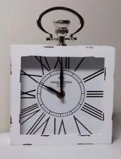 Markenlose Tisch-, Kamin- & Reiseuhren aus Silber mit 12-Stunden-Anzeigeformat