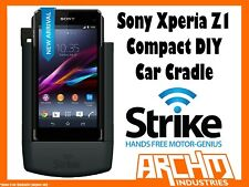STRIKE ALPHA SONY XPERIA Z1 COMPACT CAR CRADLE DIY BUILT-IN CHARGER SECURE HOLD