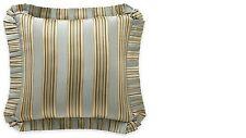 Nip J. Queen Barcelona Striped Euro European Pillow Sham Green & Gold