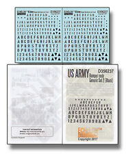 Echelon Decals 356237  1/35 US Army Bumper Code Generic Set 2 (Black)