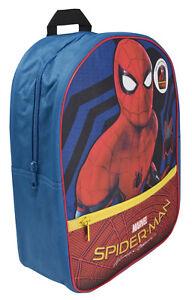 Spiderman Boys Light Up Backpack Kids Marvel School Nursery Lunch Travel Bag