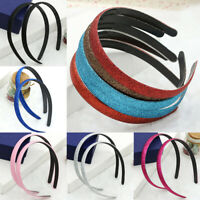 Women Fashion Skinny Glitter Shimmer Headband Hair Hoop Accessories New