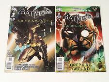 BATMAN: ARKHAM CITY #1 & 2 (of 5) DC Comics 2011 VF video game prequel