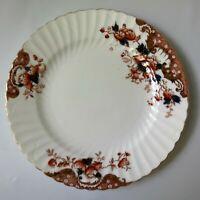"Lovely Antique E. Hughes China IMARI 7-7/8"" Plate Staffordshire Gold Scalloped"