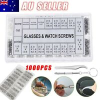 1000PCS Micro Eyeglass Glasses Steel Watch Repair Screws Nuts + Screwdriver Kit