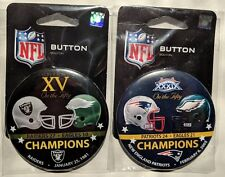 Philadelphia Eagles Super Bowl Contestant Buttons Set Lot of 2 SB 15 39