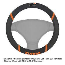 Fan Mats NHL Philadelphia Flyers Car Truck Suv Van Boat Steering Wheel Cover