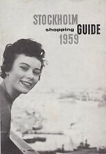 ADVERSITING - DEPLIANT TURISTICO  - STOCKHOLM - GUIDE SHPPING - 1959