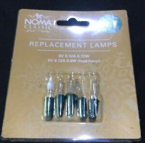 Brand New - 5 Spare Christmas Light Bulbs T5 - 6V - 4 White - 1 Fused