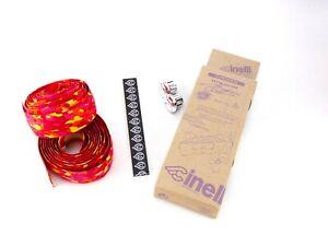 Cinelli handlebar tape - vintage, cork, pink red orange and yellow