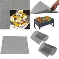 BBQ Grill Mesh Mat Reusable Teflon Sheet Resistant Non-Stick Outdoor Barbecue